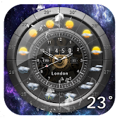 Weather and Analog Clock Widget