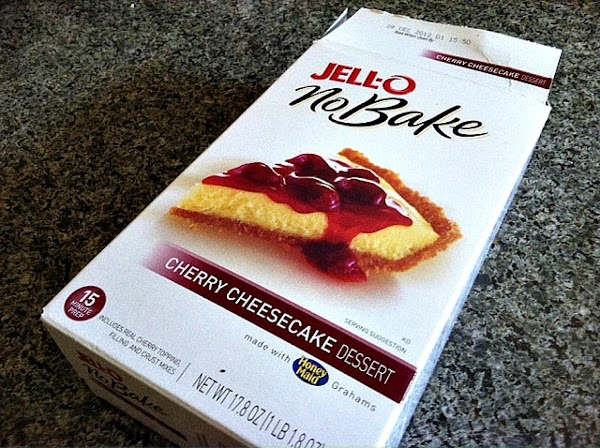 Prepare your no bake cheesecake filling. Follow instructions on package regarding milk and setting time....