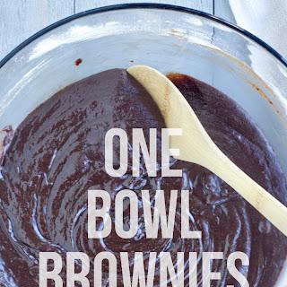 6-Ingredient, 1 Bowl Brownies.