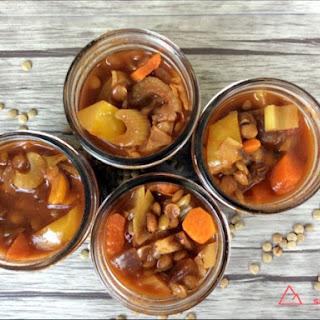 Tex Mex Veggie Lentil Soup