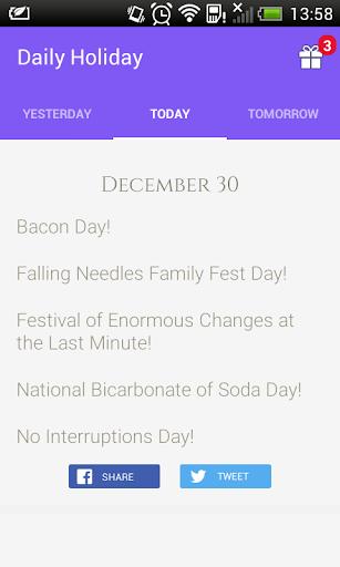 Daily Holidays mPlus Rewards