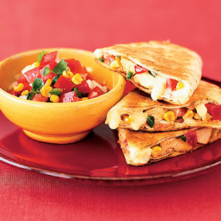 Chicken Quesadillas With Roasted Corn Salsa