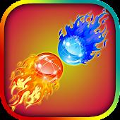 Fire ball water ball dual race