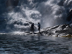 Photo: Father and Son Fishing the Falls