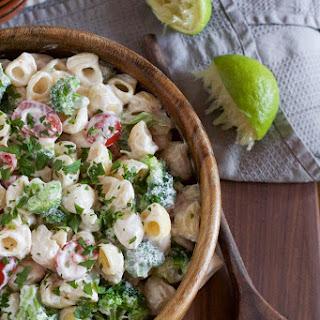 Macaroni Salad with Yogurt Lime Dressing.