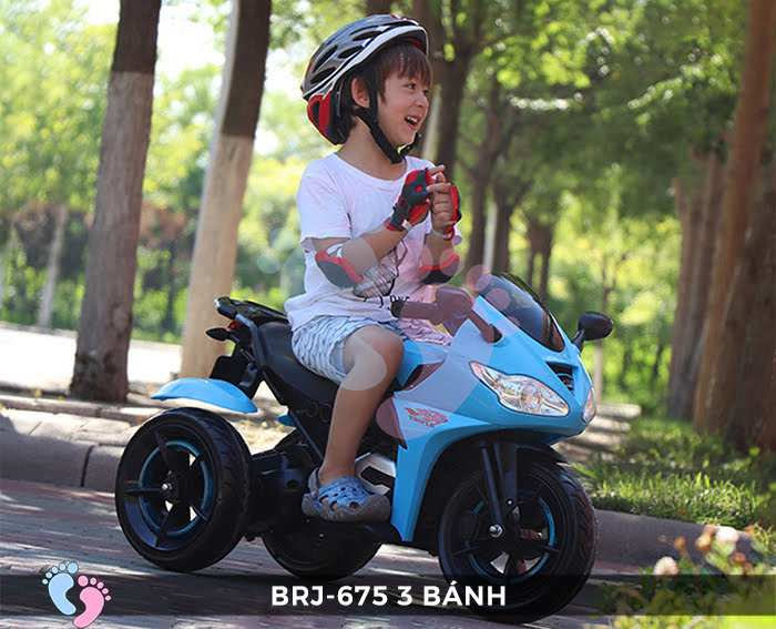Xe moto điện trẻ em BRJ-675 3 bánh 3