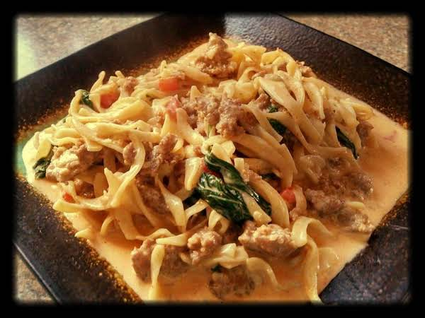 Hungarian Sausage And Noodle Skillet