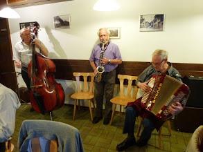 """Photo: Das """" ad hoc Trio """" am Bass Alfred Moser, am Saxofon Peter Ruch und Alfred Häfliger am Accordeon"""