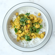Spiced Coconut and Chickpea Stew (Serves 2)