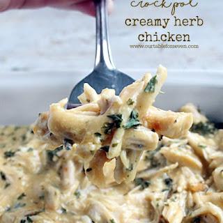 Crock Pot Creamy Herb Chicken.
