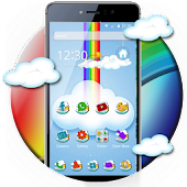 Cute Rainbow Sky Launcher
