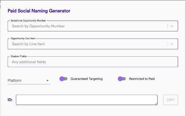 Paid Social Name Generator