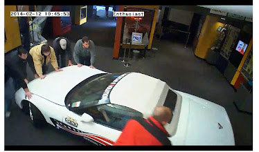 Photo: Surveillance shot of removing the unharmed Corvettes from the Skydome
