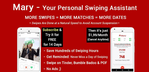 Auto Swiper for Bumble, Tinder, Badoo & POF - Mary - Apps on