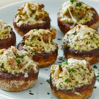 Creamy Stuffed Mushrooms.