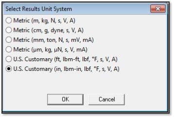 ANSYS - Задание единиц измерения для файлов *.CDB и *.RST