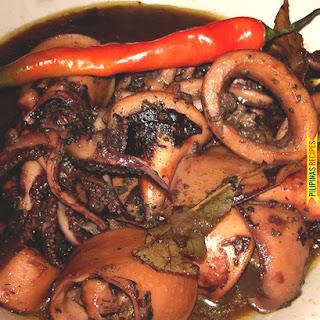Adobong Pusit Recipe (Squid Adobo).