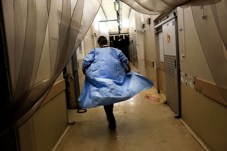 Ina Botes, manager of the Johannesburg Forensic Services walks through the mortuary in Hillbrow. File photo. Image: Alon Skuy