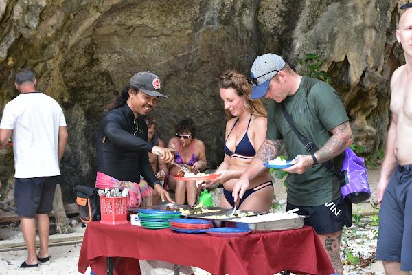 Enjoy a Thai lunch at Ladding Island
