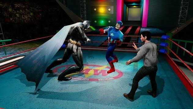 Superhero Wrestling Battle Arena Ring Fighting apk screenshot