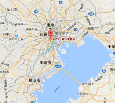 地図:すぎ乃 麻布十番店