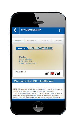 HCL Healthcare mLoyal App