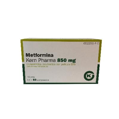 metformina 850mg 50comprimidos kern pharma