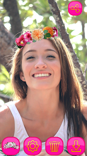 Photo Booth Flower Crown Heart Effect - náhled