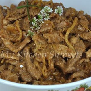Ciak Bek/Stir-Fried Pork with Preserved Soy Bean Paste