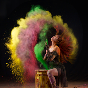 The Drummer by Kiki Achadiat - People Musicians & Entertainers