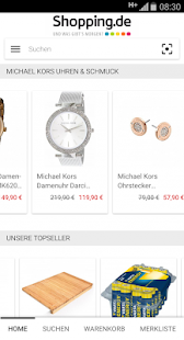 Shopping.de App - náhled