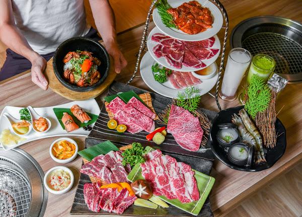 老井極上燒肉:台中北屯區美食-烤狀猿旗下另一日式燒肉品牌,必點蒜蓉蝦石鍋釜飯