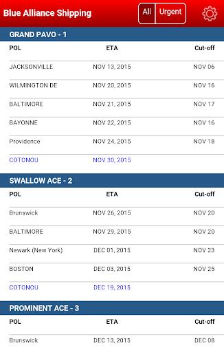BA Schedule