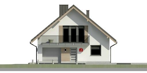 Dom przy Wiązowej 3 - Elewacja przednia