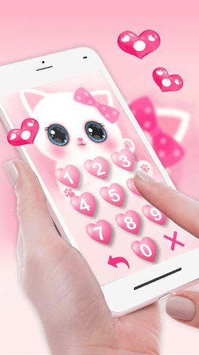 Pink Cute Kitty 3d Live Lock Screen Wallpapers Apps On