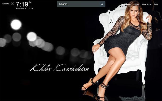 Khloe Kardashian Wallpapers Theme New Tab