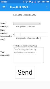 FREE Bulk SMS - náhled