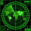 Radar locator UFO simulator icon