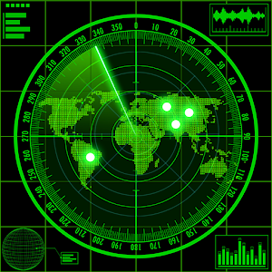 Radar locator UFO simulator for PC and MAC