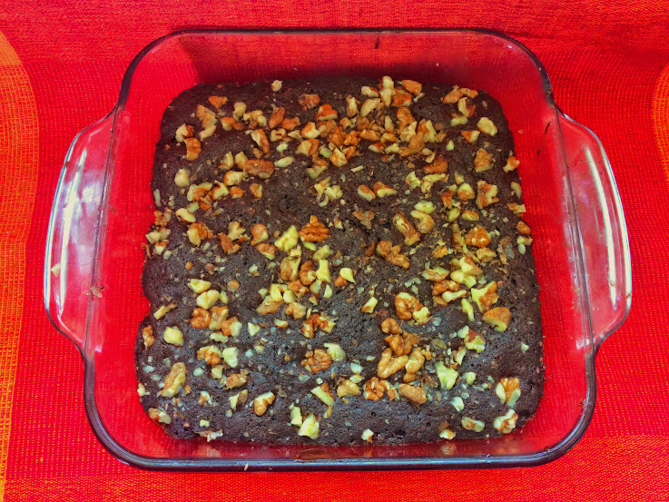 Chocolate walnut cake (Microwave recipe)