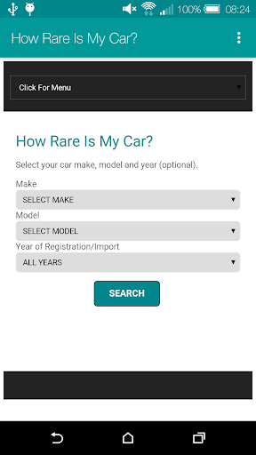 How Rare Is My Car? Screenshot