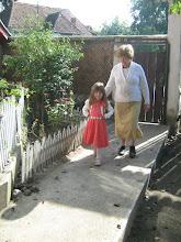 Photo: templomból jövet mamával Nyárádszentmárton