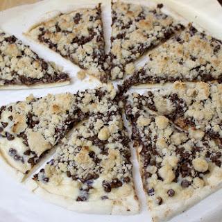Chocolate Chip Dessert Pizza.