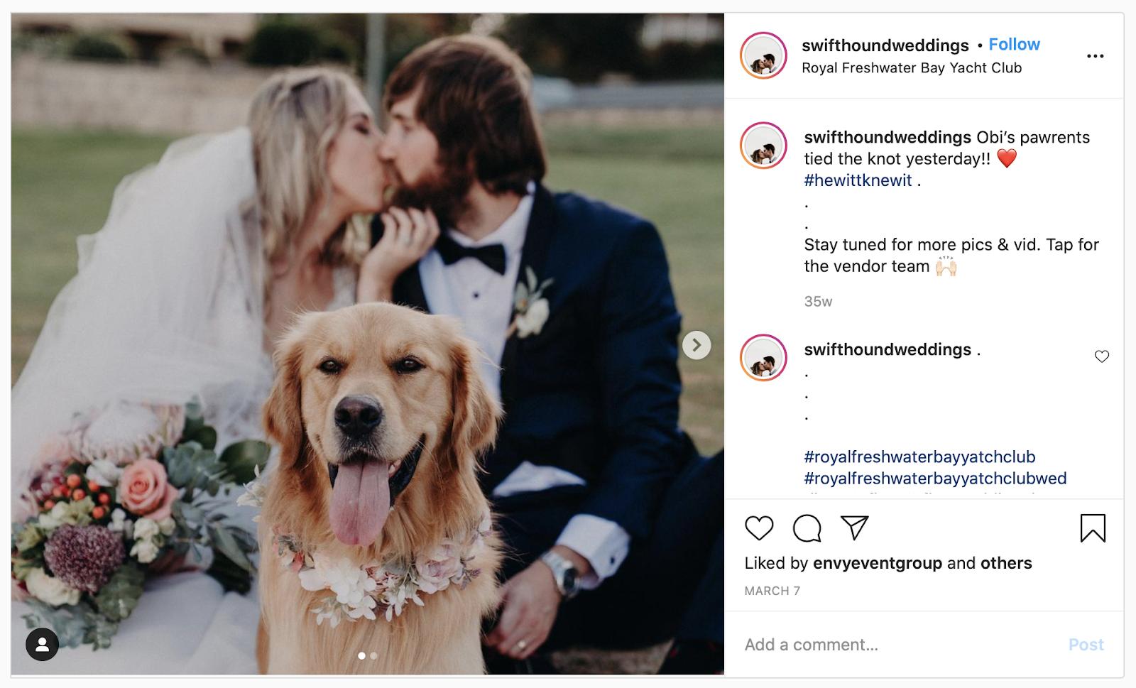 wedding hashtag that rhymes example