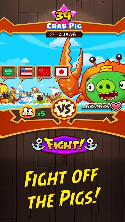 Angry Birds Fight! RPG Puzzle- หน้าจอ