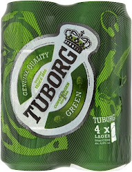 Tuborg Green Pilsner Lager - Diageo PLC, 500ml, 4 Pack
