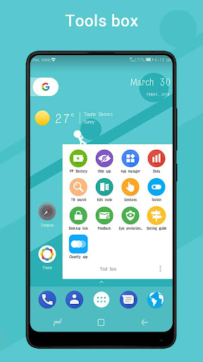 Pi Pie Launcher ud83cudfc6,PP Launcher, Android 9.0 P mode  screenshots 6