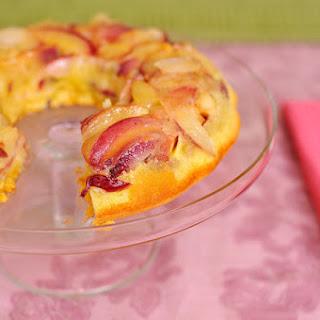 Upside-Down Nectarine Cake