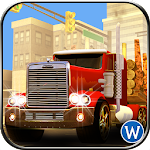 American Truck Cargo Delivery Icon