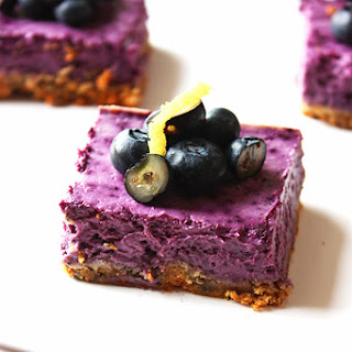 Blueberry Lemon Cheesecake Protein Bars